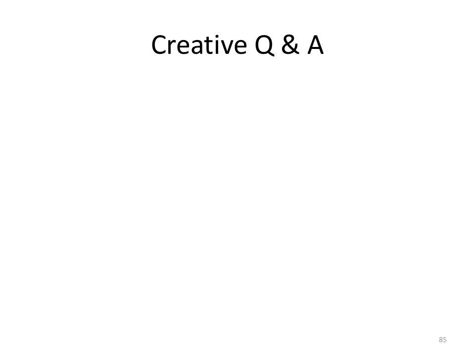 Creative Q & A 85