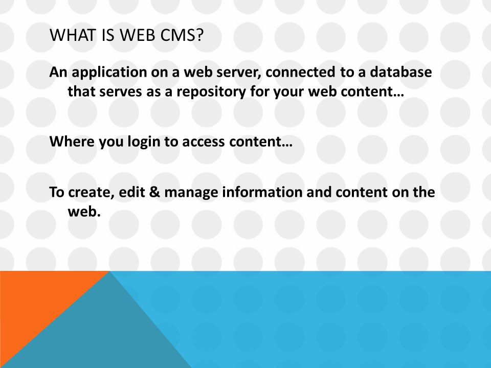WHAT IS WEB CMS.