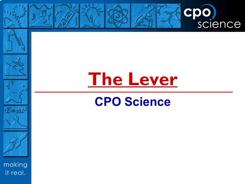 The Lever CPO Science