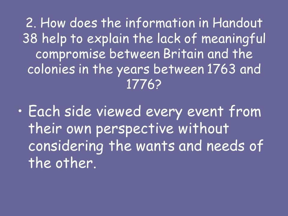 Handout will explain