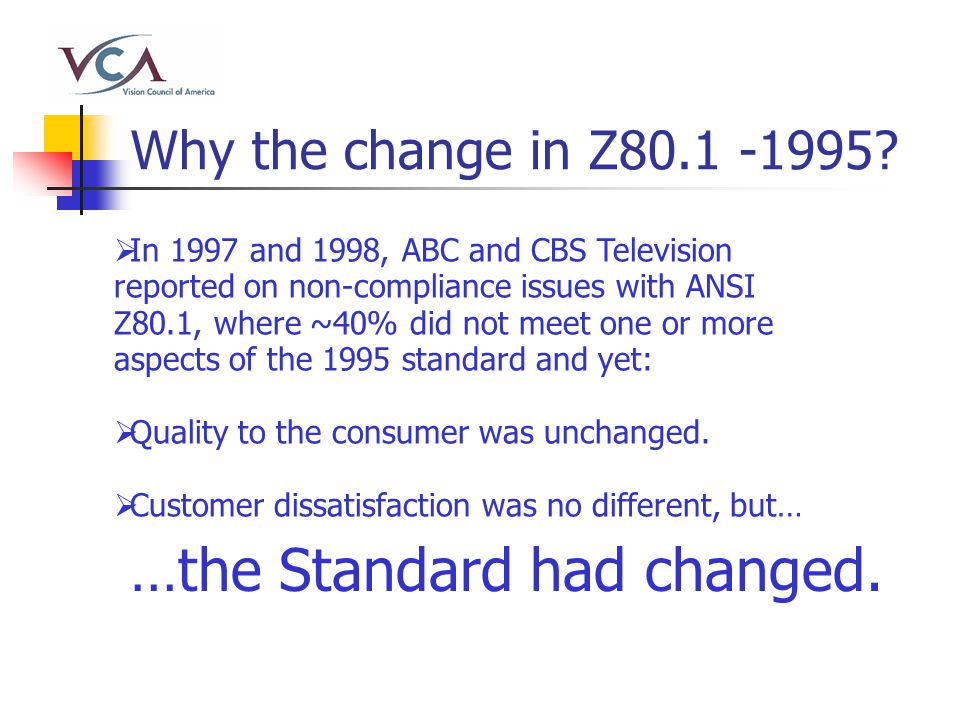Why the change in Z80.1 -1995.