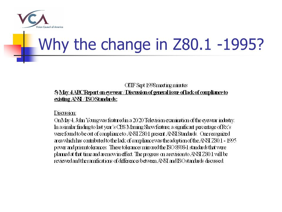 Why the change in Z80.1 -1995?