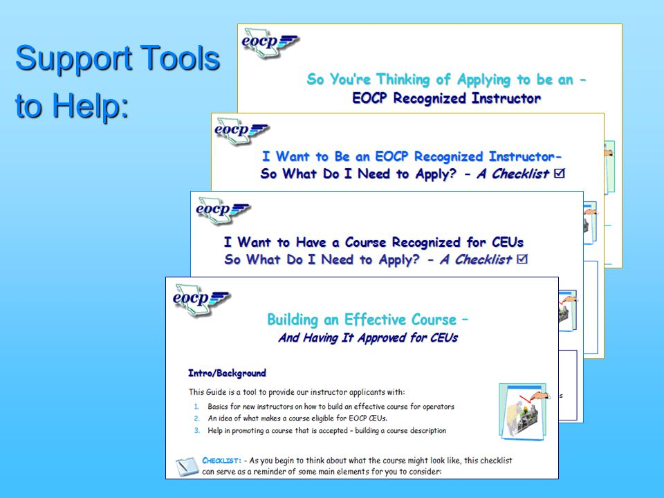 Support Tools to Help: