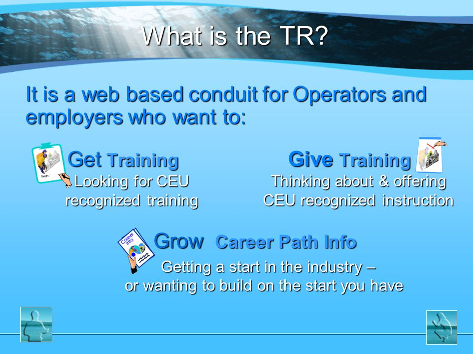 6 Agenda 1.What is the TR.2.Why is the TR needed.