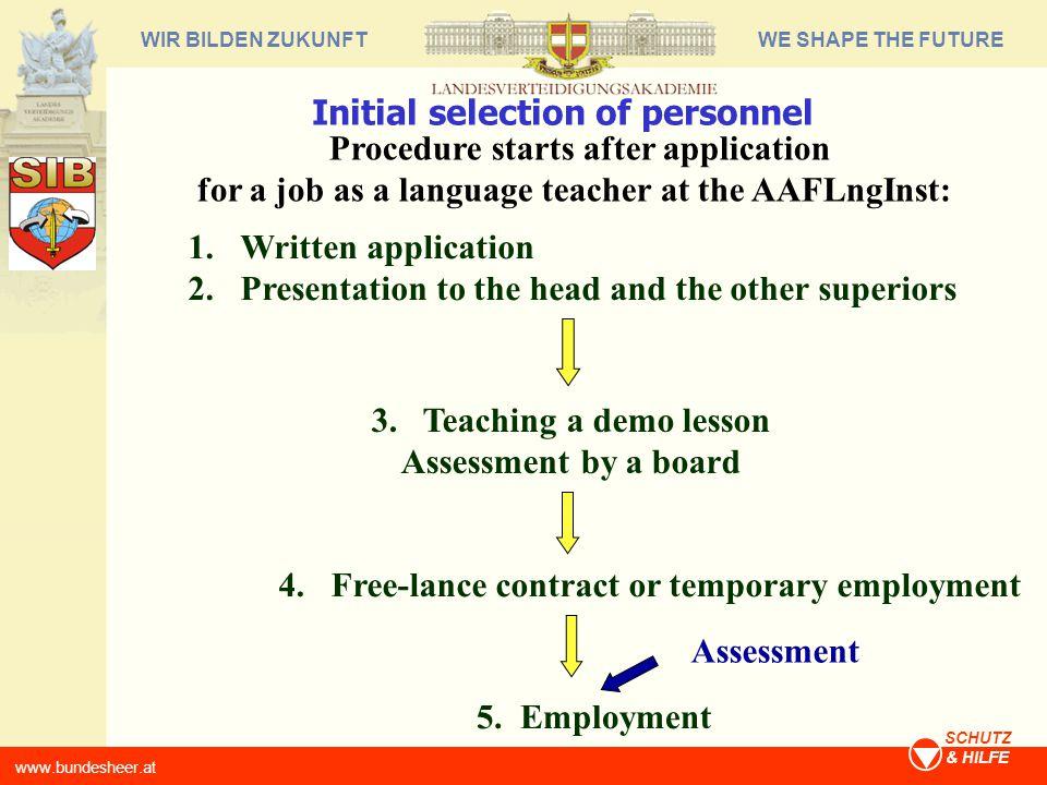 WE SHAPE THE FUTUREWIR BILDEN ZUKUNFT www.bundesheer.at SCHUTZ & HILFE Tester/Rater Training and Certification 1.