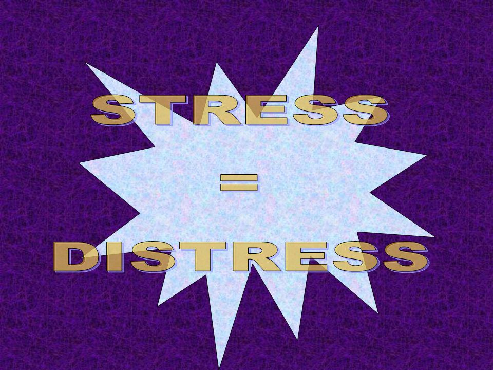 KONSEP ASAS D STRESSOR sebarang tuntutan ke atas tubuh dan fikiran D STRESS arousal (tindak balas) tubuh dan minda D DISTRESSOR sebarang tuntutan ke atas tubuh dan fikiran yang menimbulkan kemudaratan D DISTRESS kemudaratan kepada tubuh dan minda akibat daripada arousal (tindak balas) terlalu tinggi atau terlalu sedikit