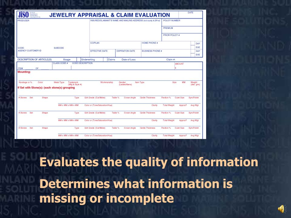 JISO 18 for agents, underwriters, and adjusters