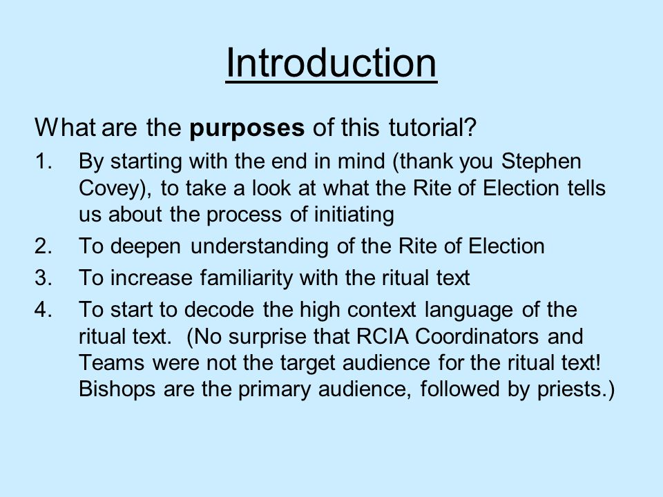 Introduction What are the purposes of this tutorial.
