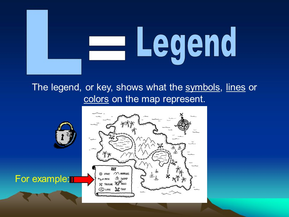 What map elements do you see? Title Orientation 2001 Date Legend Scale Grid