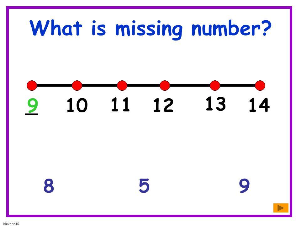 klevans10 What is missing number? 1085 01 2 3 4 _ 5