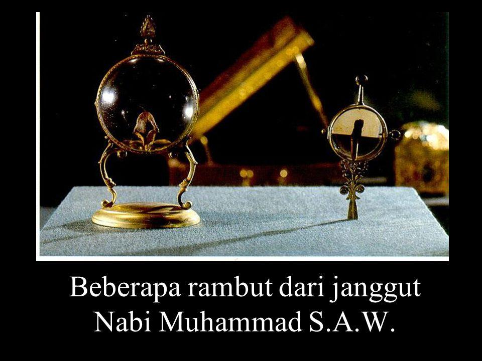 Beberapa rambut dari janggut Nabi Muhammad S.A.W.