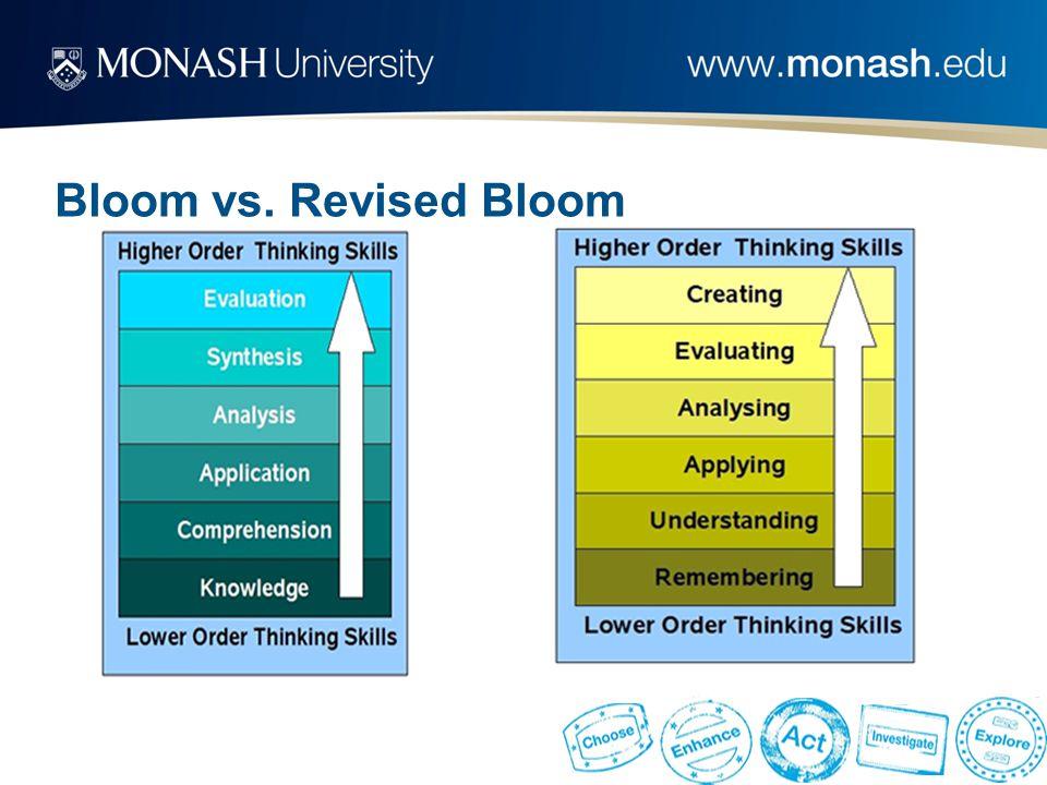 Bloom vs. Revised Bloom