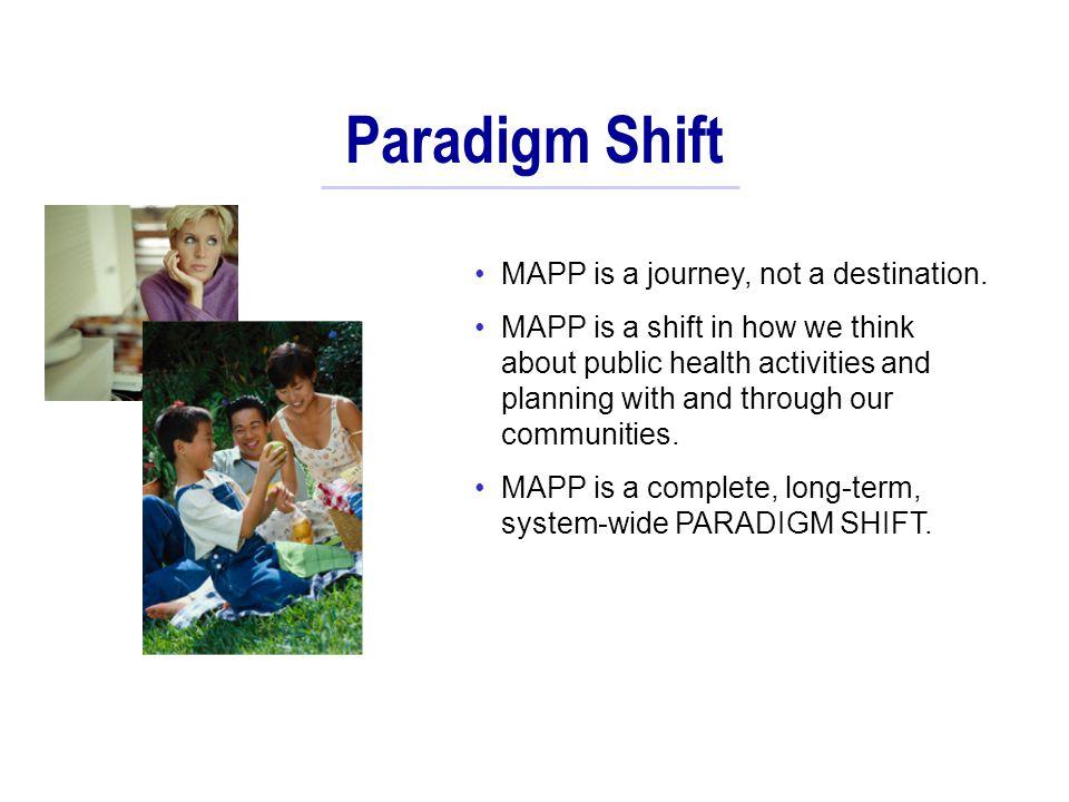 Paradigm Shift MAPP is a journey, not a destination.