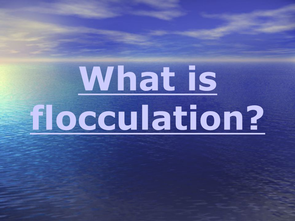 What is flocculation