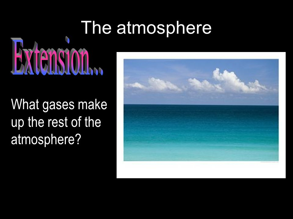 The atmosphere What gases make up the rest of the atmosphere?