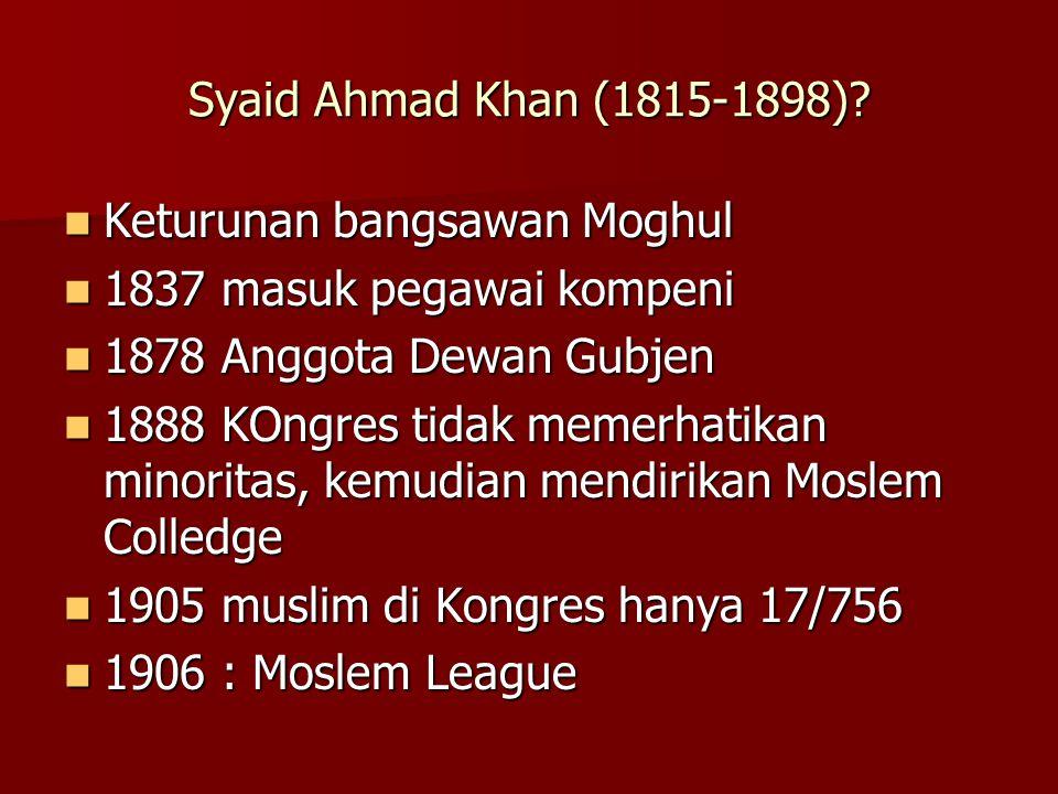 Syaid Ahmad Khan (1815-1898).
