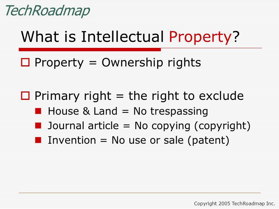 TechRoadmap Copyright 2005 TechRoadmap Inc.