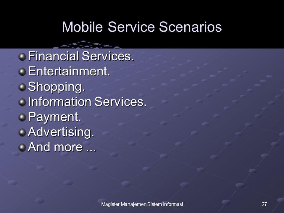 27Magister Manajemen Sistem Informasi Mobile Service Scenarios Financial Services.