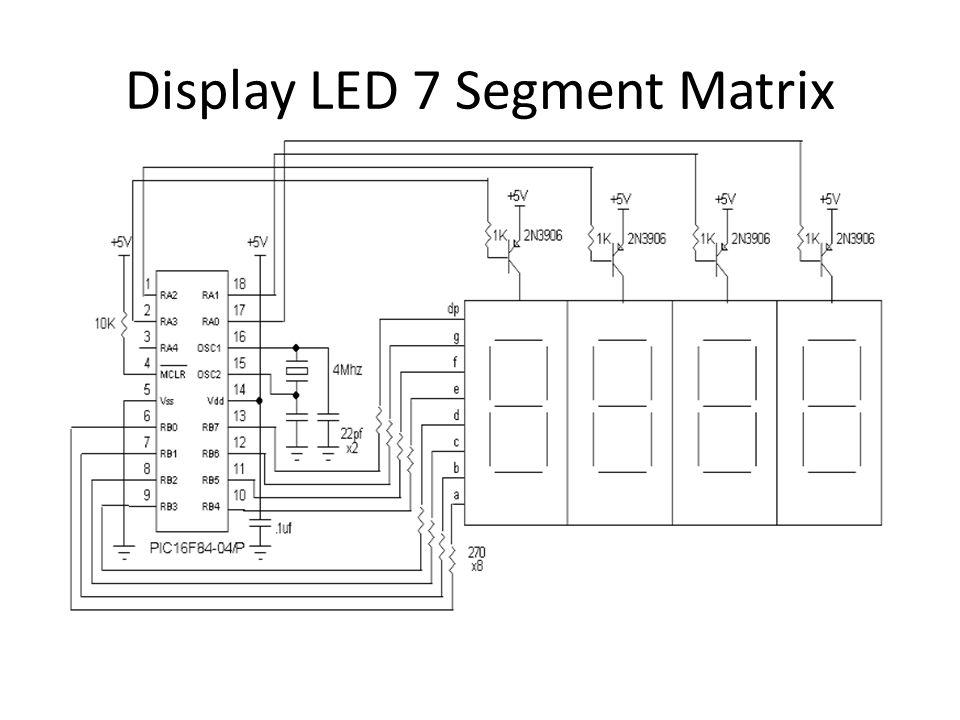 Display LED 7 Segment Matrix