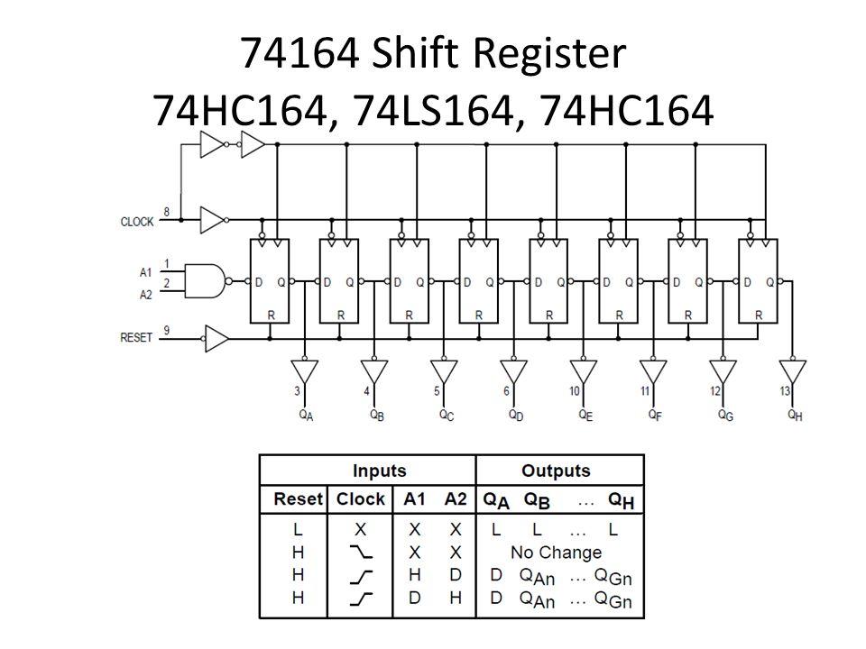 74164 Shift Register 74HC164, 74LS164, 74HC164