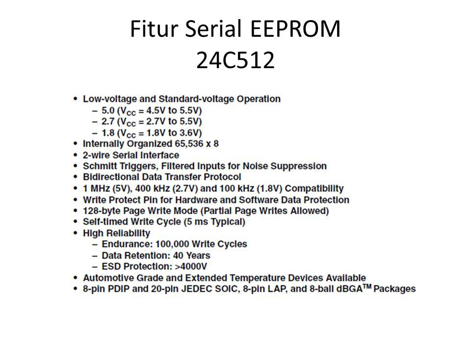 Fitur Serial EEPROM 24C512