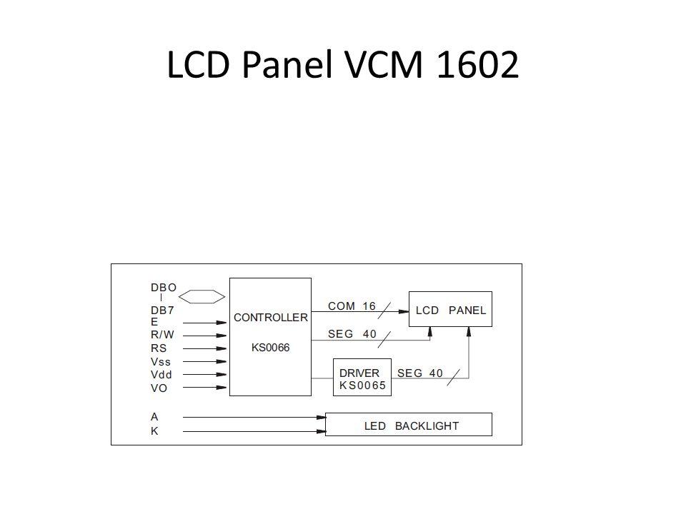 LCD Panel VCM 1602