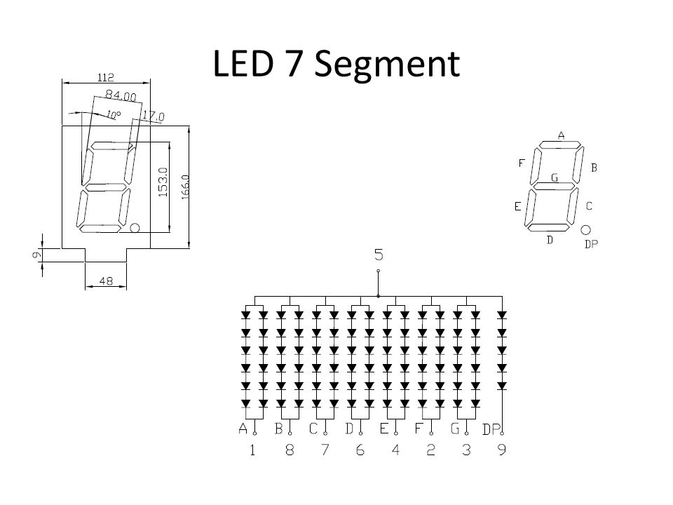 Common Anode & Common Cathode 7 Segment LED