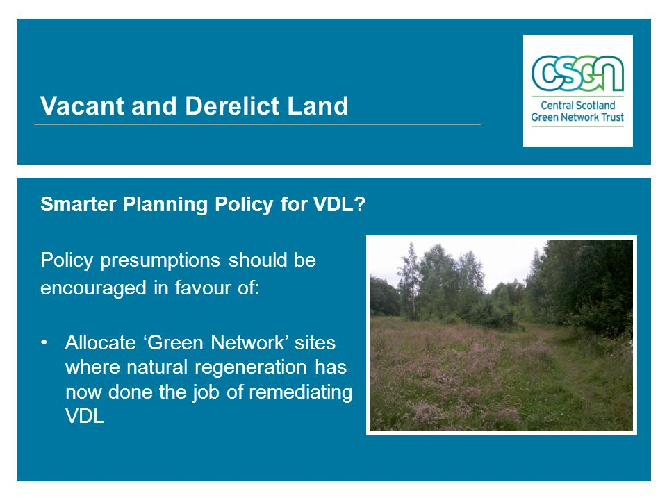 Smarter Planning Policy for VDL.