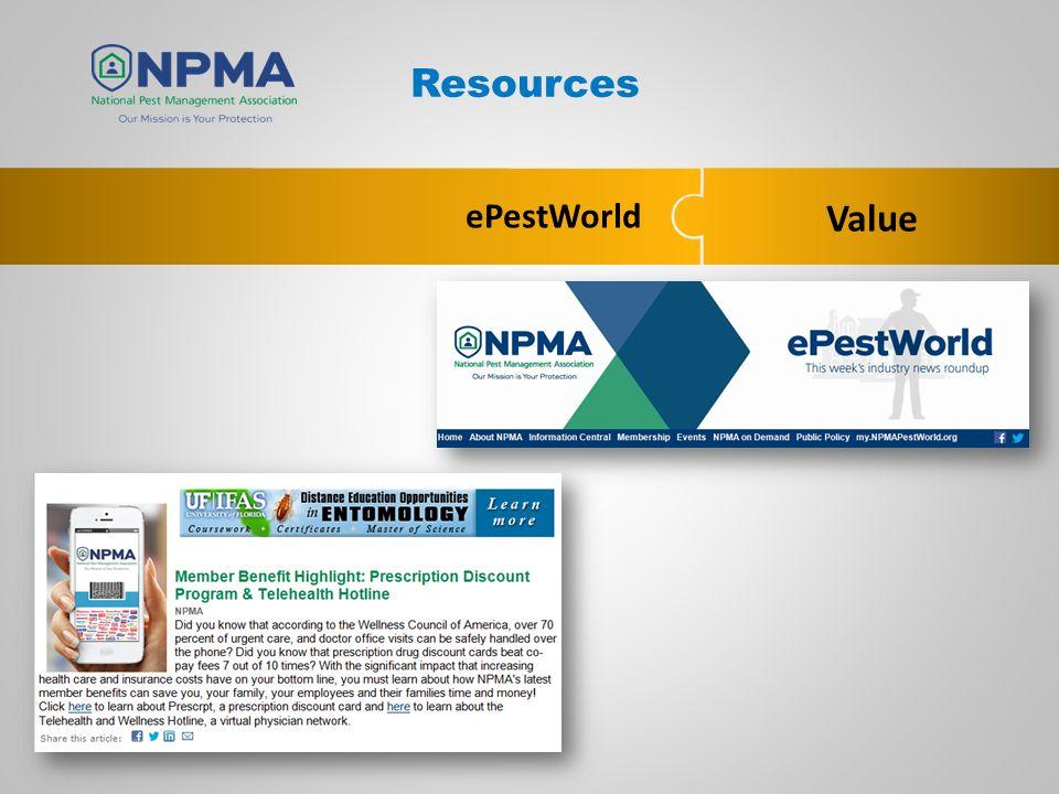 Value ePestWorld Resources