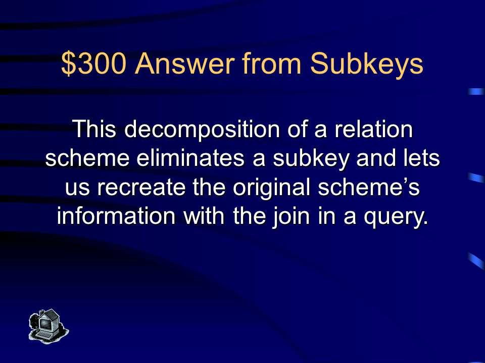 $200 Question from Subkeys What is a subkey