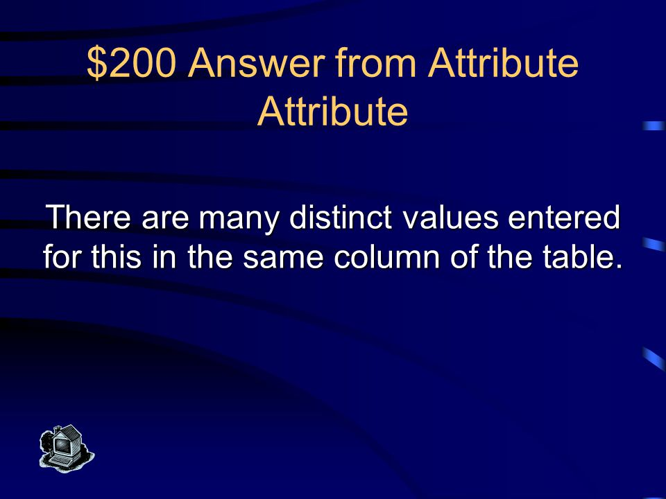 $100 Question from Attribute Attribute What is a weak entity?