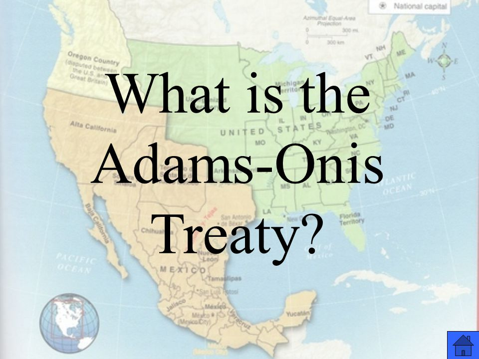 What is the Adams-Onis Treaty