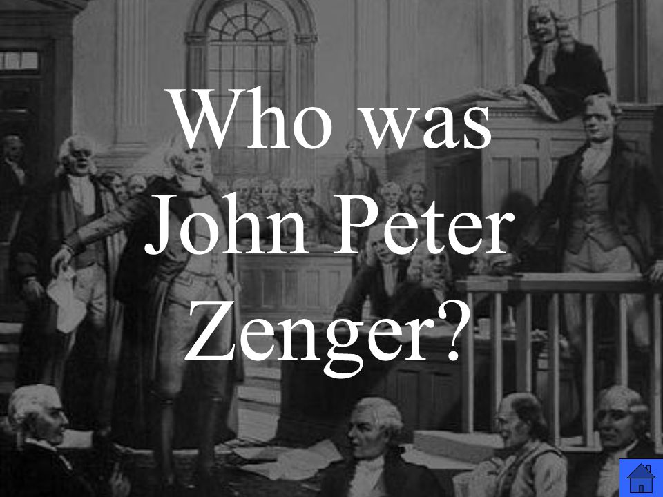 Who was John Peter Zenger?