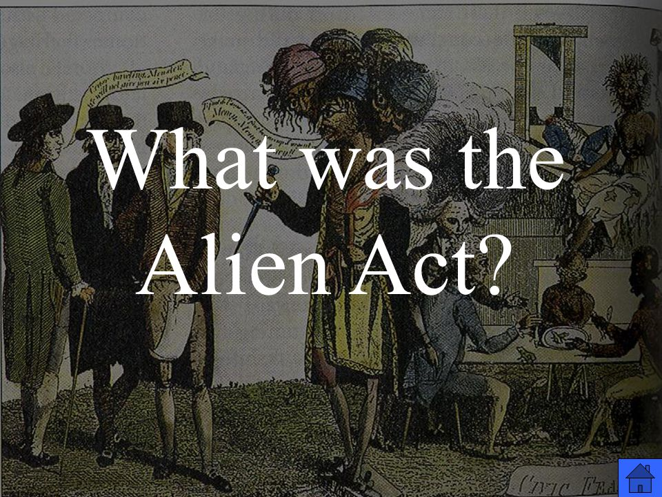 What was the Alien Act