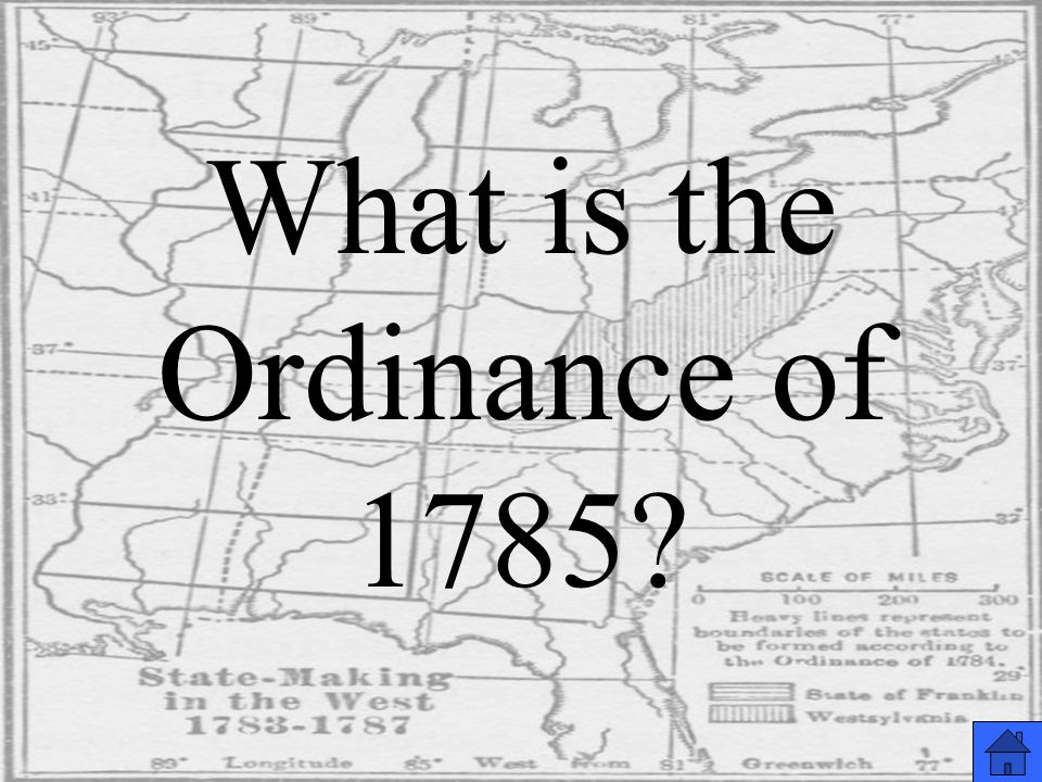 What is the Ordinance of 1785