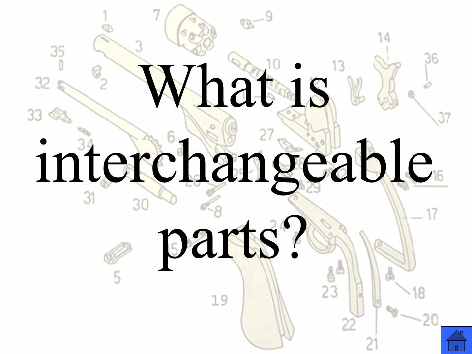What is interchangeable parts