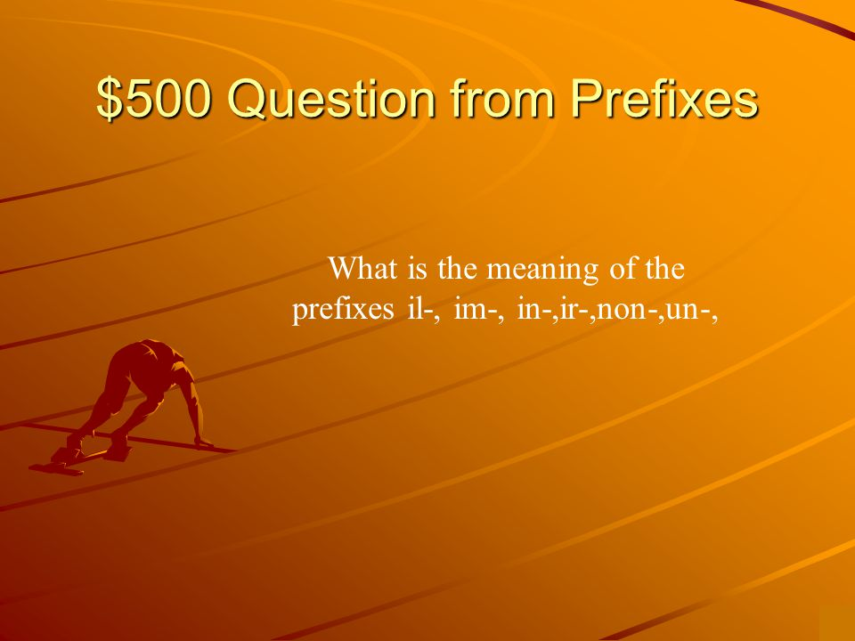 $400 Answer from Prefixes Above, greater than