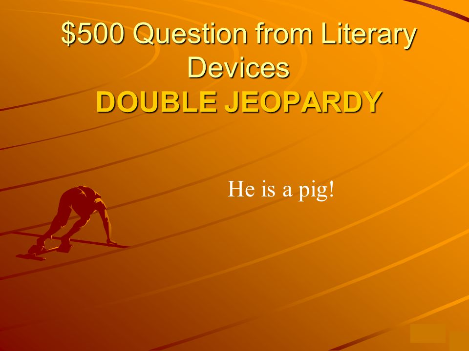 $400 Answer from Literary Devices What is a metaphor