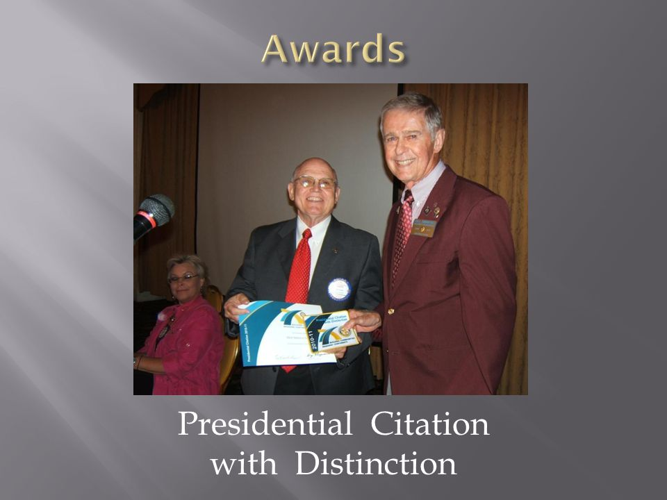 Presidential Citation with Distinction