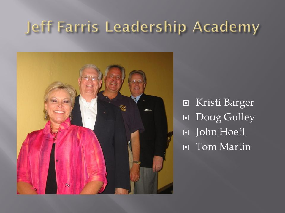  Kristi Barger  Doug Gulley  John Hoefl  Tom Martin