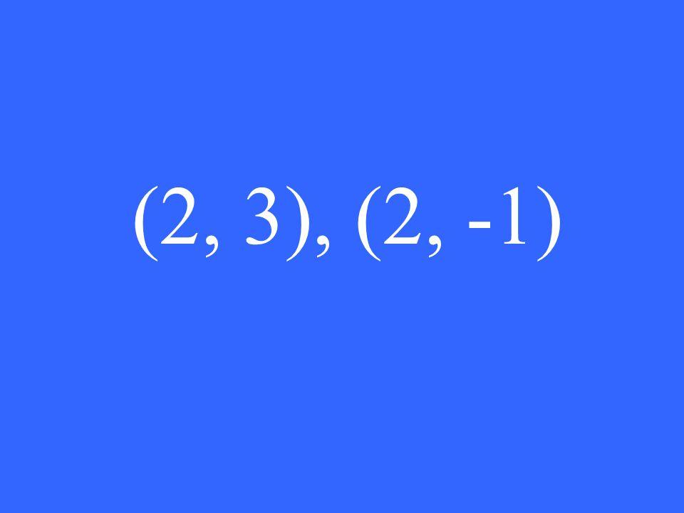 (2, 3), (2, -1)