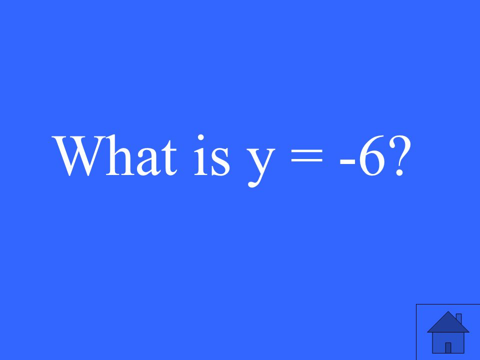 What is y = -6