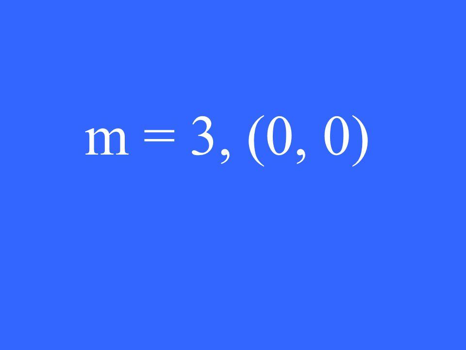 m = 3, (0, 0)