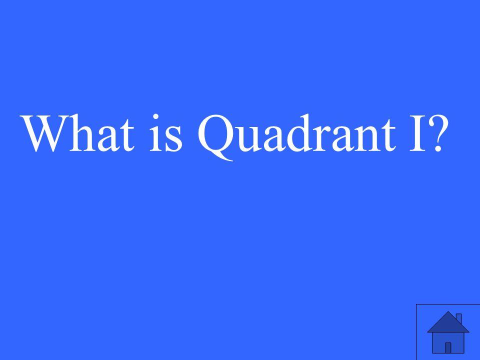 What is Quadrant I