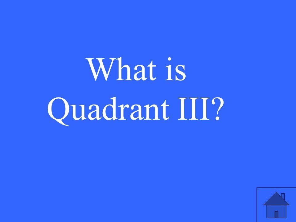 What is Quadrant III