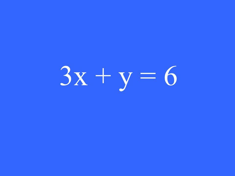 3x + y = 6