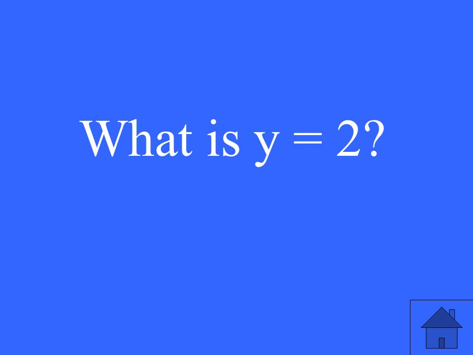 What is y = 2