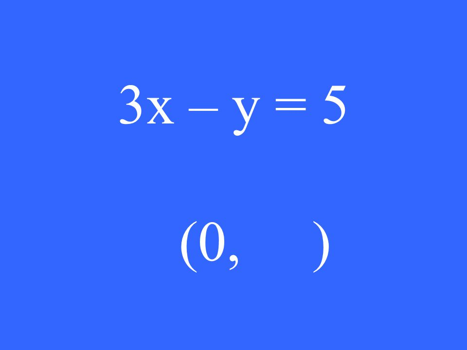 3x – y = 5 (0, )