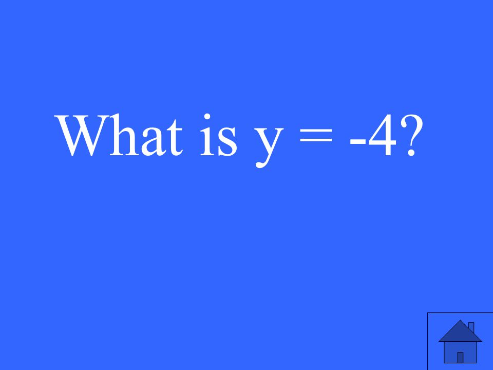 What is y = -4