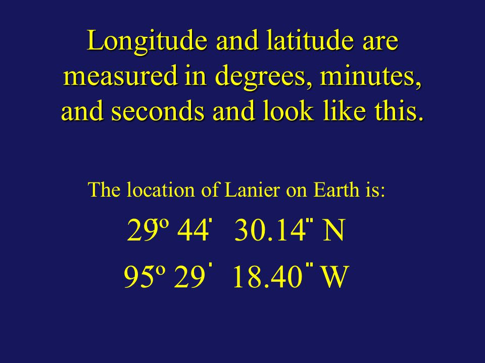 How are longitude and latitude coordinates written and what do they mean?
